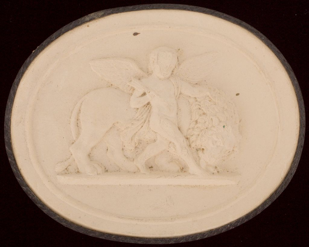 Cupid With A Lion Symbolizing Earth, After Thorwaldsen