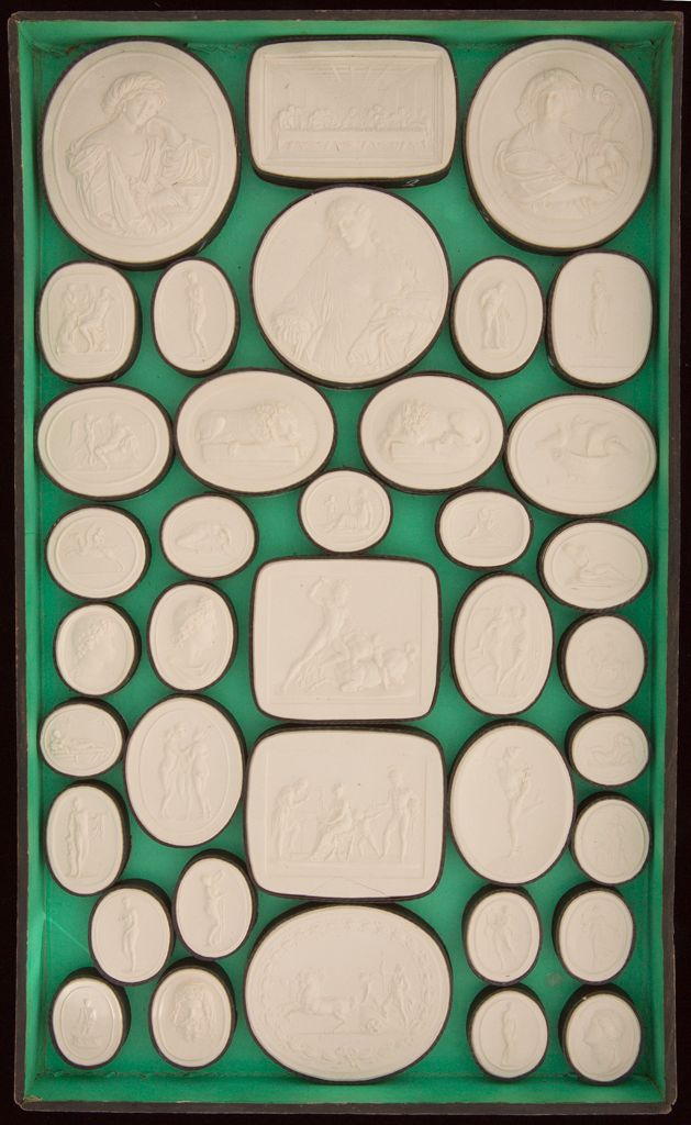 Collection Of 114 Plaster Casts In A Wooden Box