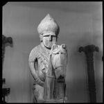 Kafir grave effigy.  Warrior mounted on horse