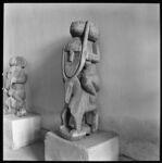 Kafir ancestor effigy.  Figure riding deer or antelope, holding on to horns