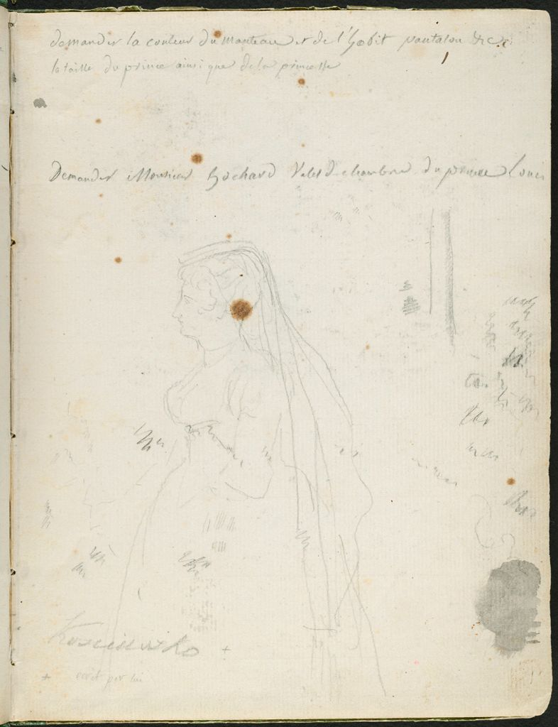 Light Sketch Of A Woman In Profile (After Rubens?); Verso: Two Heads Of A Young Man