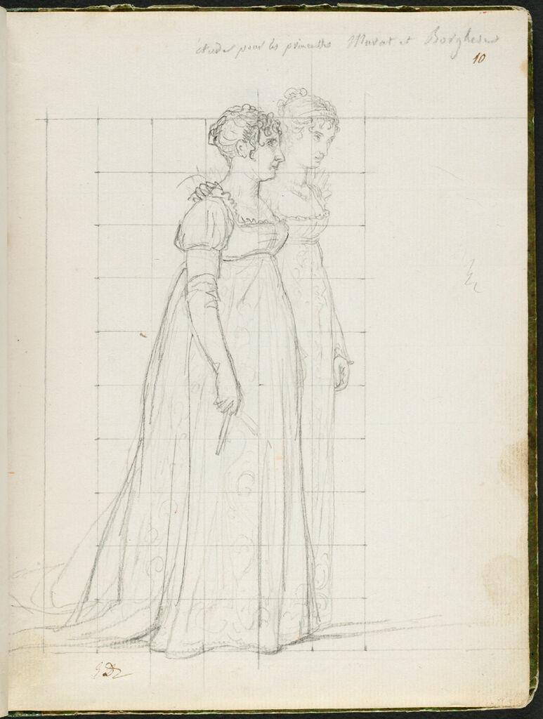 Caroline Bonaparte, The Princess Murat, And Pauline Bonaparte, The Princess Borghese; Verso: Blank Page