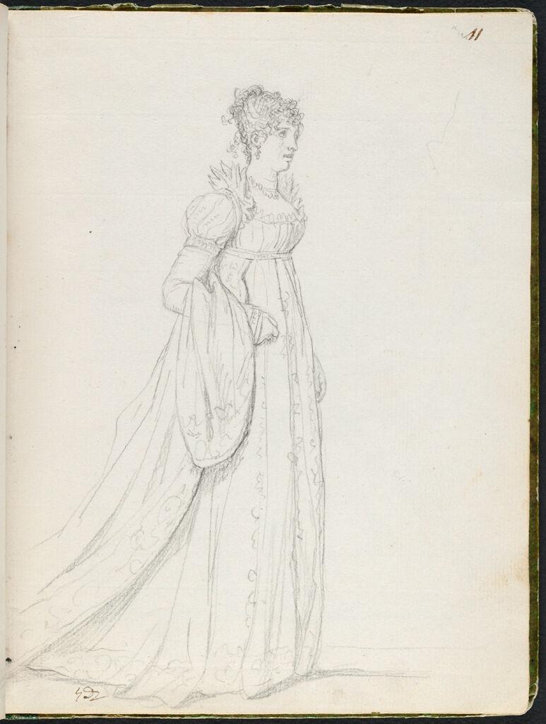 Pauline Bonaparte, The Princess Borghese; Verso: Blank Page