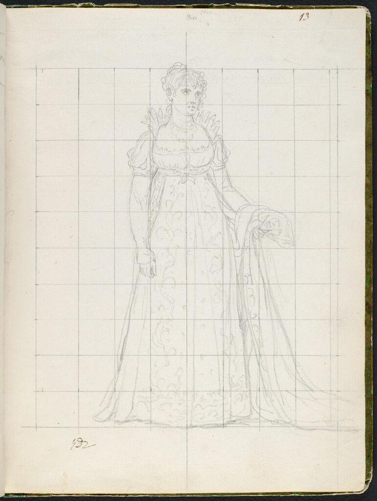 Julie Clary, The Princess Joseph; Verso: Faint Bust-Length Profile Portrait Of A Man In Eighteenth-Century Dress