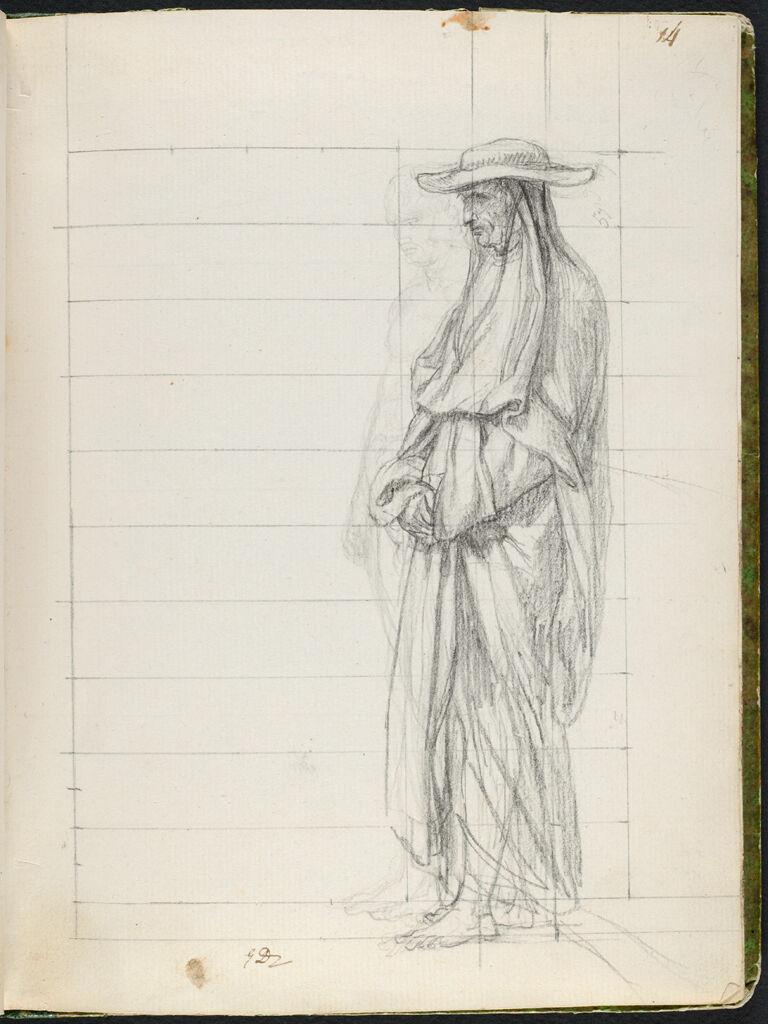 Standing Nude, And A Cardinal; Verso: Faint Sketch Of Jean De Cambacérès, Duc De Parme, Arch-Chancellor Of The Empire