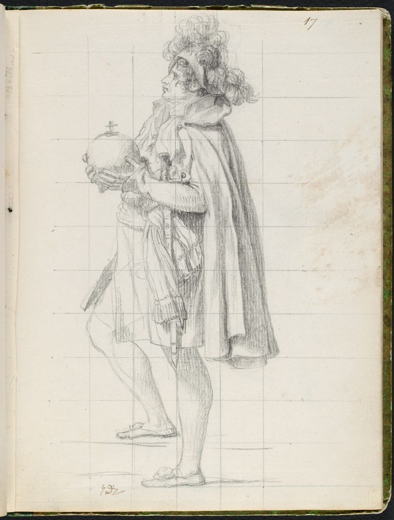 Maréchal Berthier, Prince De Neuchâtel, Holding The Imperial Orb Of Charlemagne; Verso: Bust-Length Study Of Cardinal Caprara, Papal Legate In France, Wearing A Skullcap
