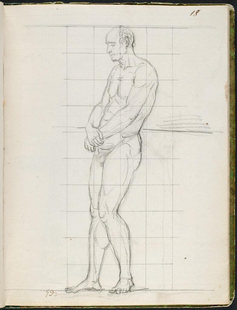 Nude Study Of Cardinal Caprara; Verso: Study Of Cardinal Caprara In Cardinal's Robes, Carrying A Biretta