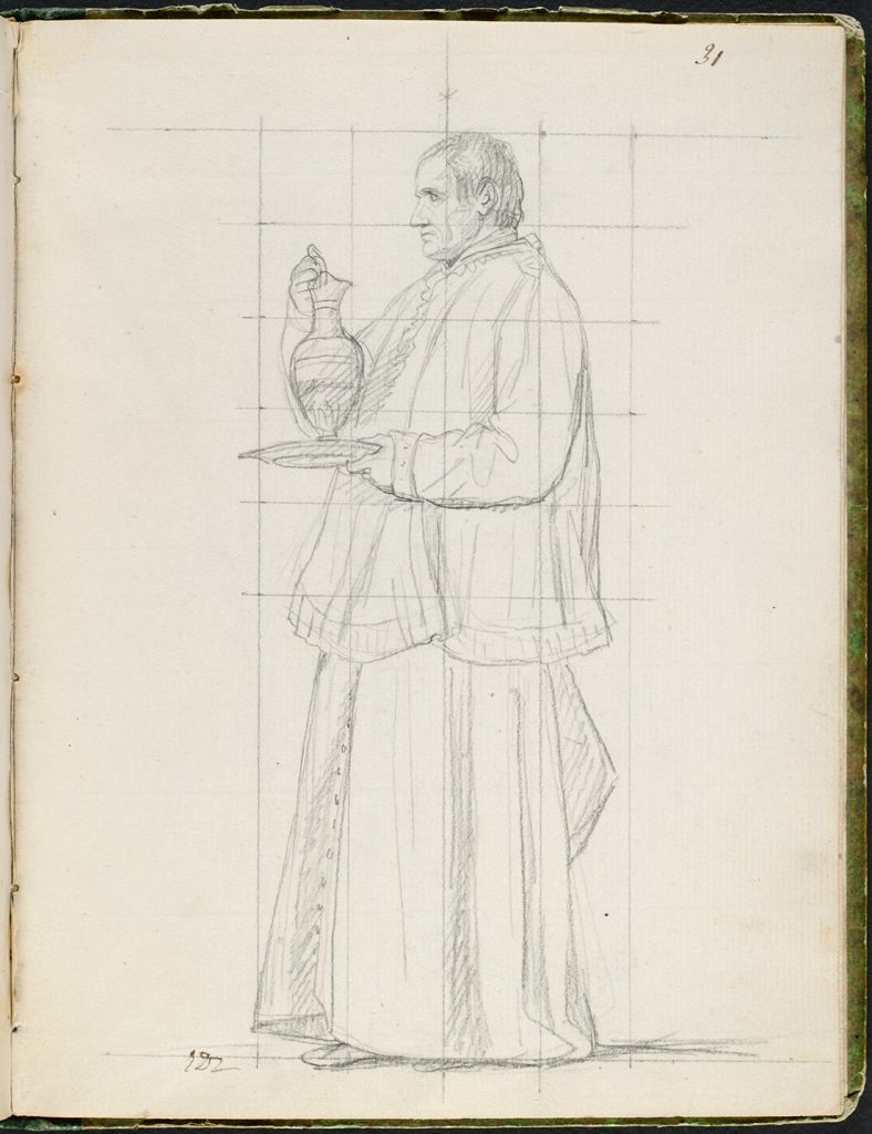 Cleric Holding A Ewer; Verso: John Armstrong, American Minister To France