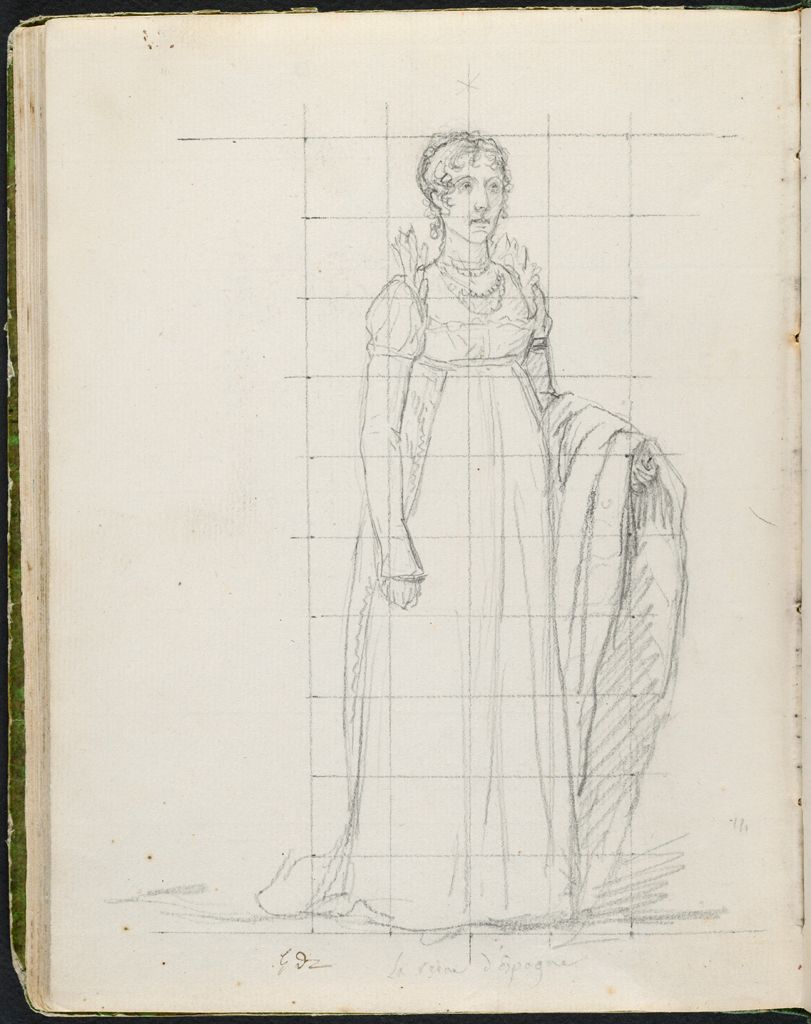 Blank; Verso: Julie Clary, Wife Of Joseph Napoleon, Later Queen Of Spain