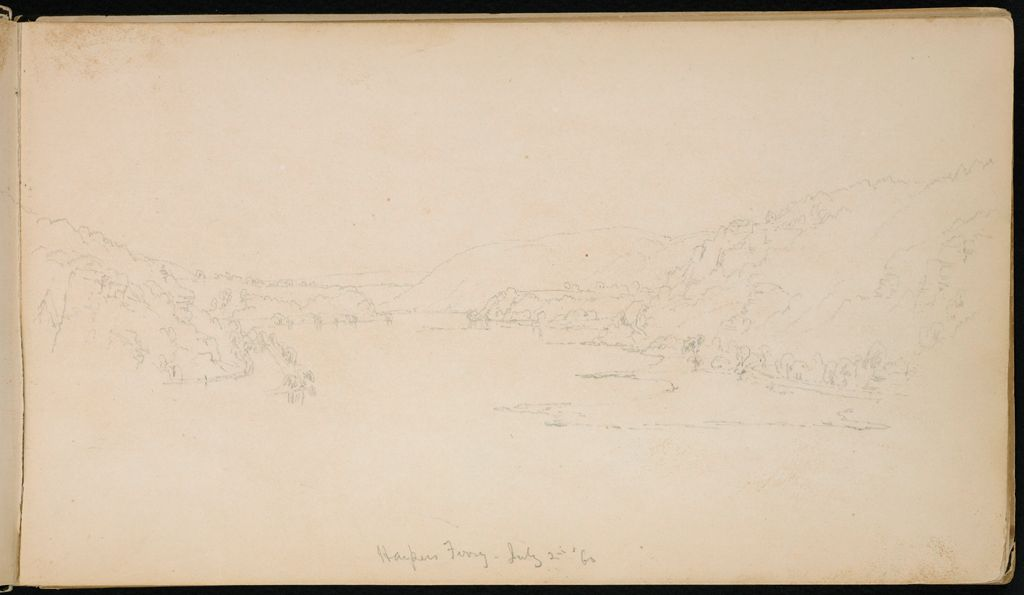 Harpers Ferry, Maryland; Verso: Blank Page