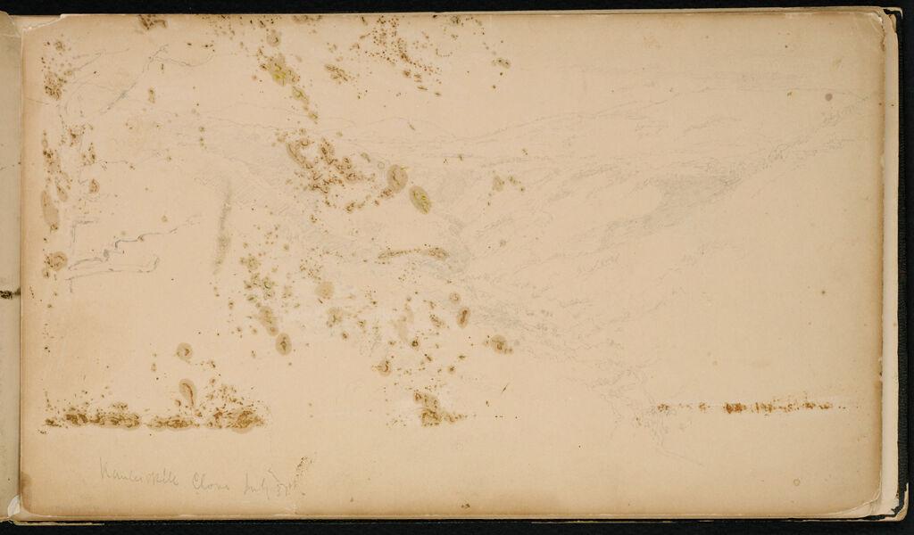 Kauterskill Clove, New York (Recto And Verso)