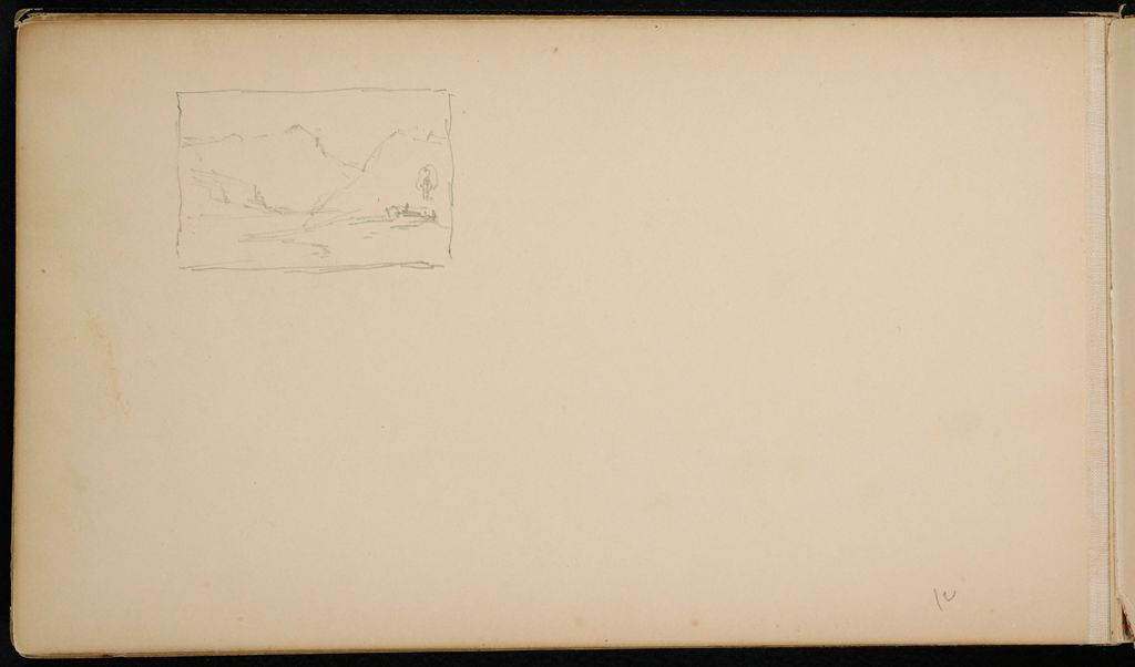 Blank Page; Verso: Small Landscape