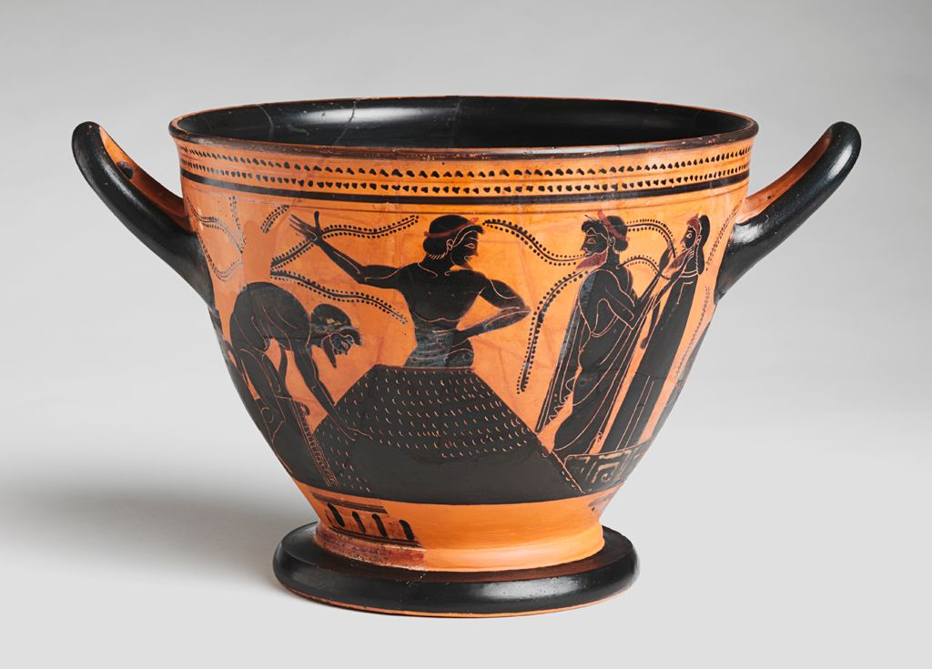 Skyphos (Drinking Cup) Preparation Of Clay Or Agricultural Scene & From the Harvard Art Museumsu0027 collections Skyphos (drinking cup ...