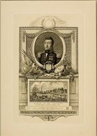 Portrait of General Lafayette and a View of His Landing in New York in 1824