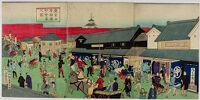 Triptych: Nihonbashi Street Scene