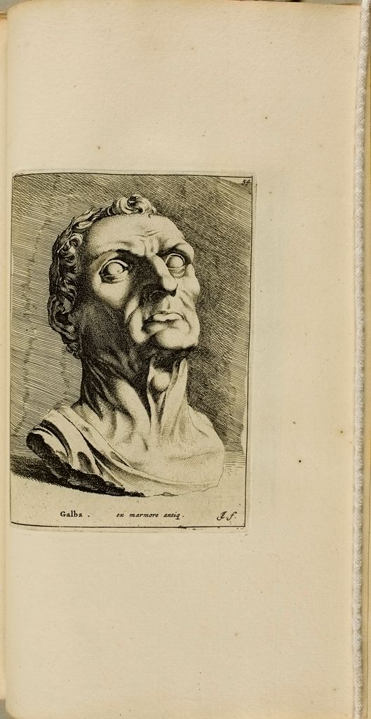 Plate 54: Head Said To Represent The Emperor Galba, With A Laurel Wreath