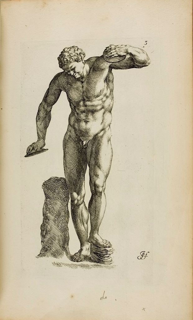 Plate 3: Front View Of Satyr Beating Time With A Wooden Foot-Clapper