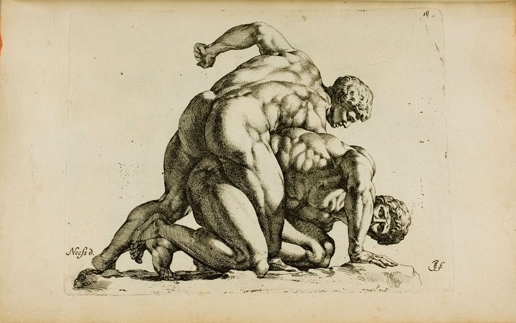 Plate 18: Two Wrestlers