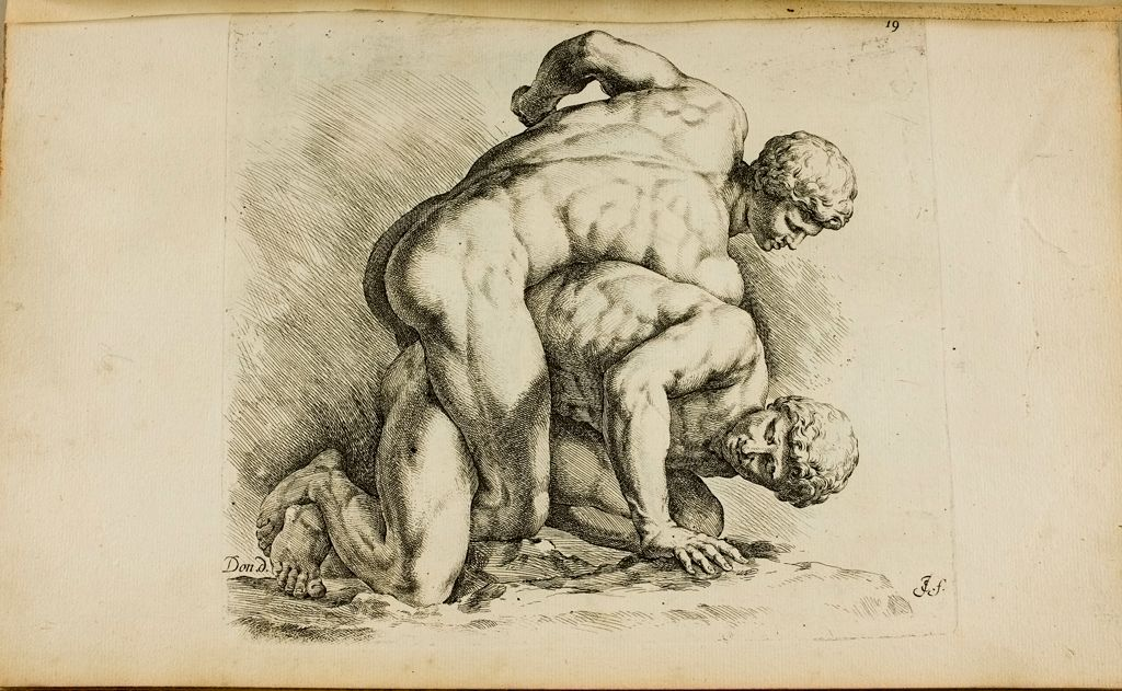 Plate 19: Two Wrestlers