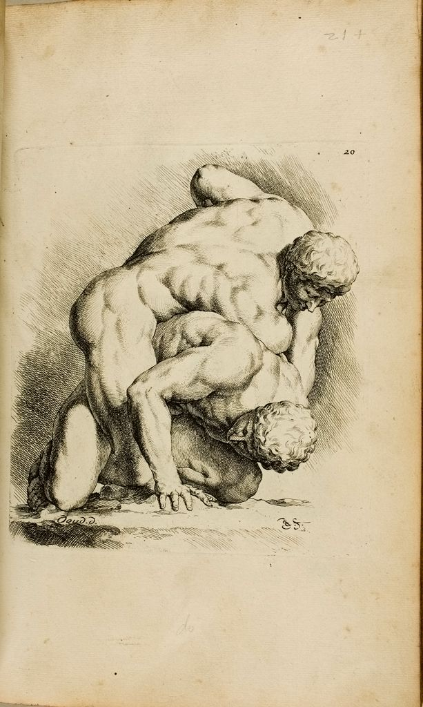 Plate 20: Two Wrestlers