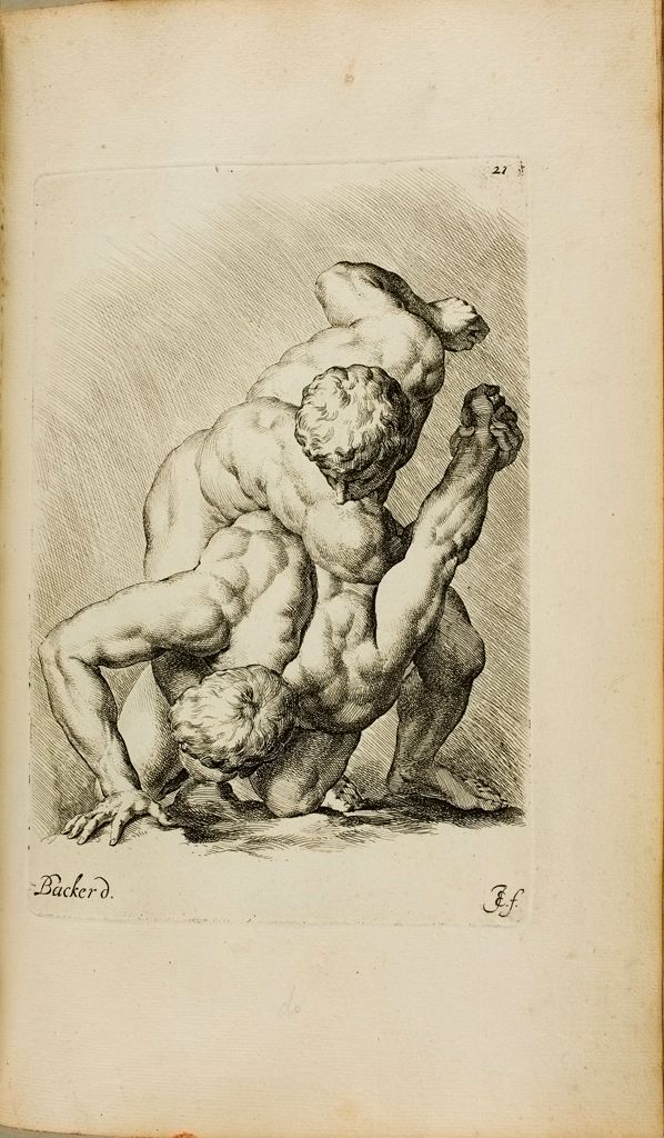Plate 21: Two Wrestlers