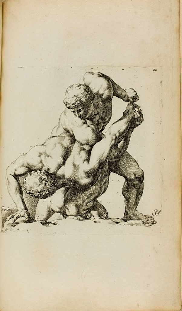 Plate 22: Two Wrestlers