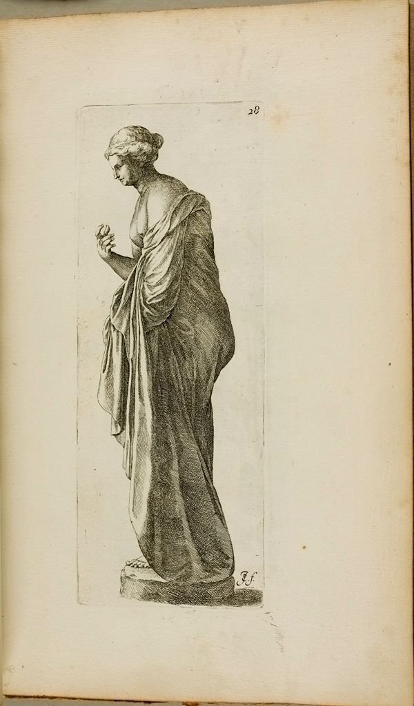 Plate 28: Female Statue With A Bird, Possibly Leda