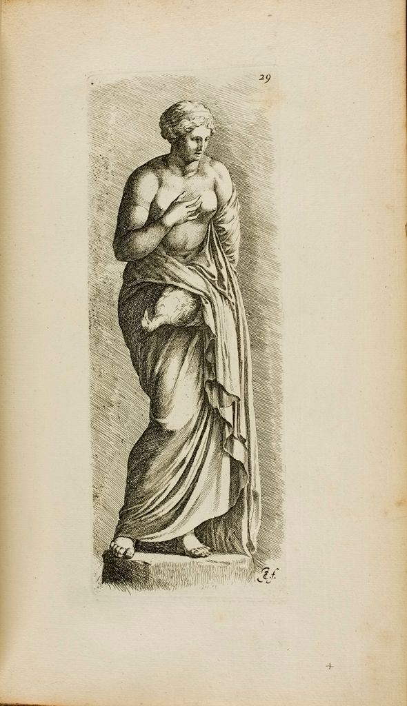 Plate 29: Female Statue With A Bird, Possibly Leda