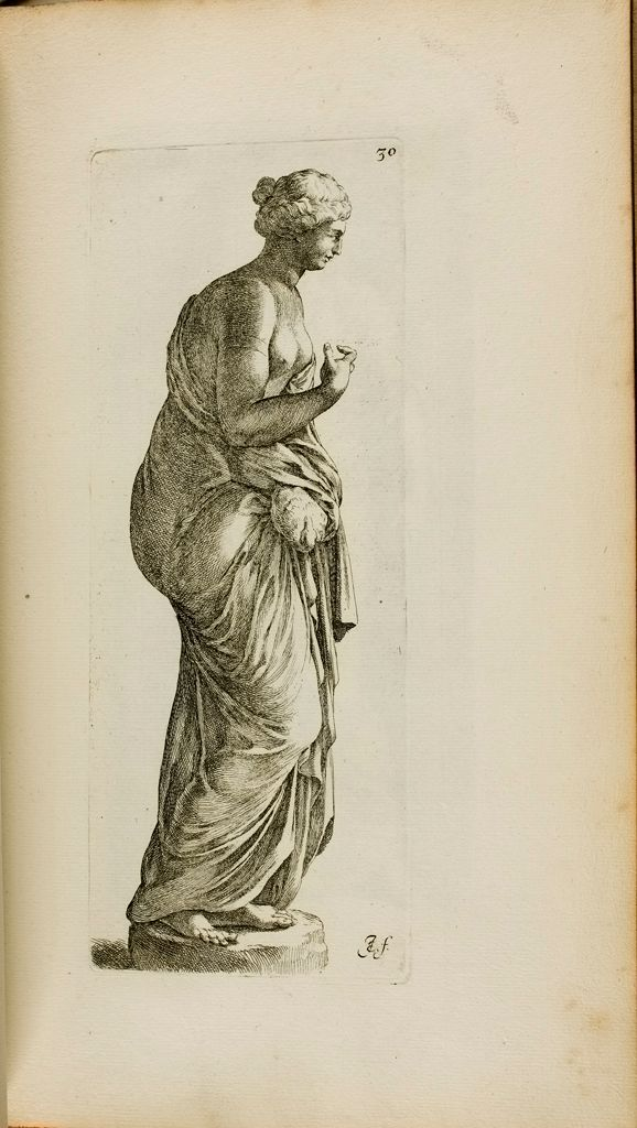 Plate 30: Female Statue With A Bird, Possibly Leda