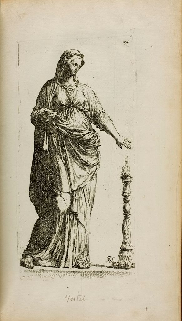 Plate 34: Statue Of A Woman, Usually Called A Vestal Virgin