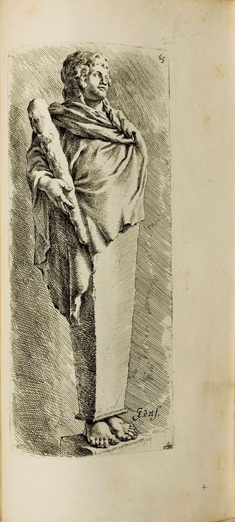 Plate 65: Draped Herm: Terminal Statue Of A Boy Wrapped In Himation, With A Club