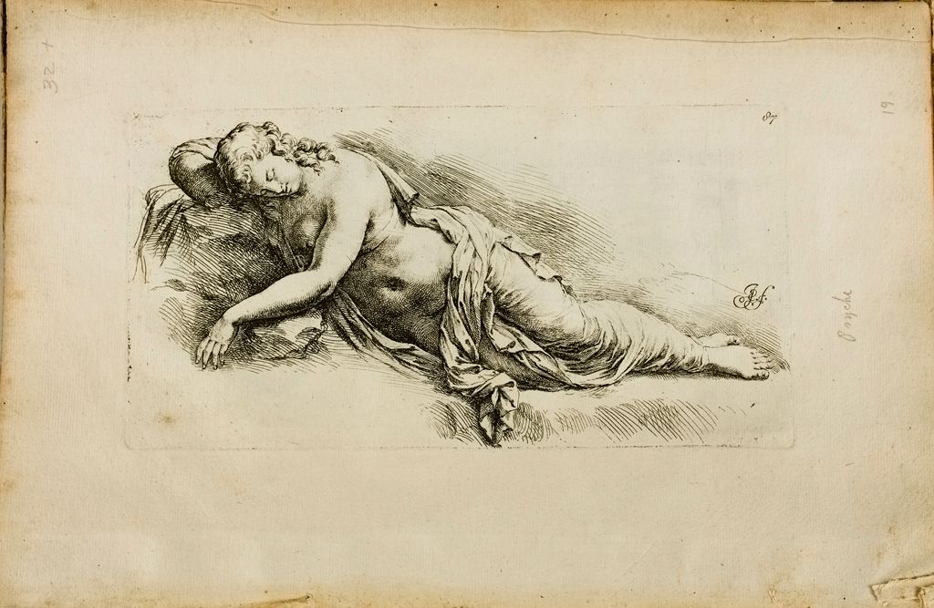 Plate 87: Sleeping Nymph Or Ariadne