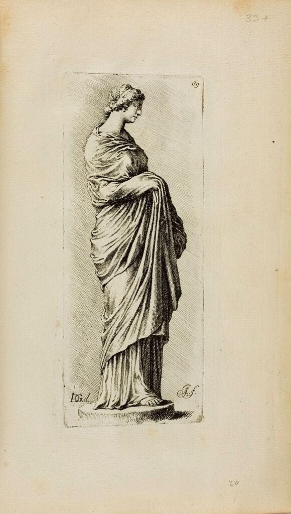Plate 89: Draped Female Funerary Statue