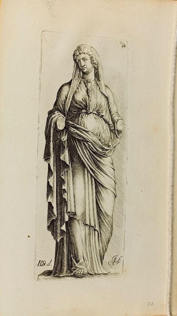 Plate 92: Draped Female Statue