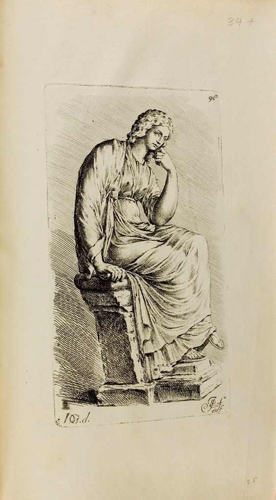 Plate 98: Seated Muse, Clio(?)