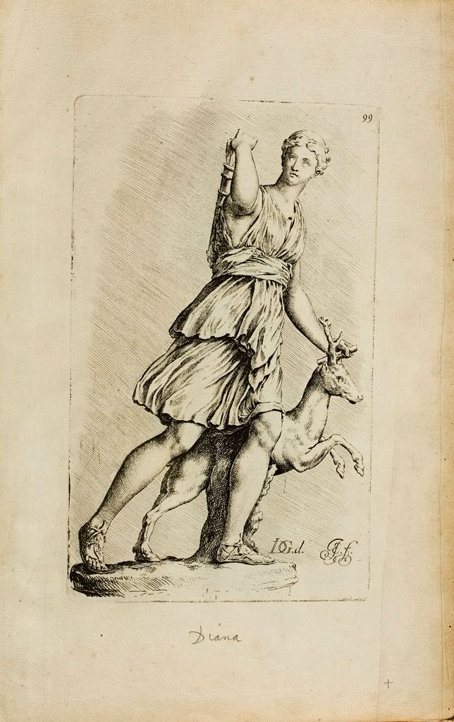 Plate 99: Artemis, Known As The Diana Of Versailles