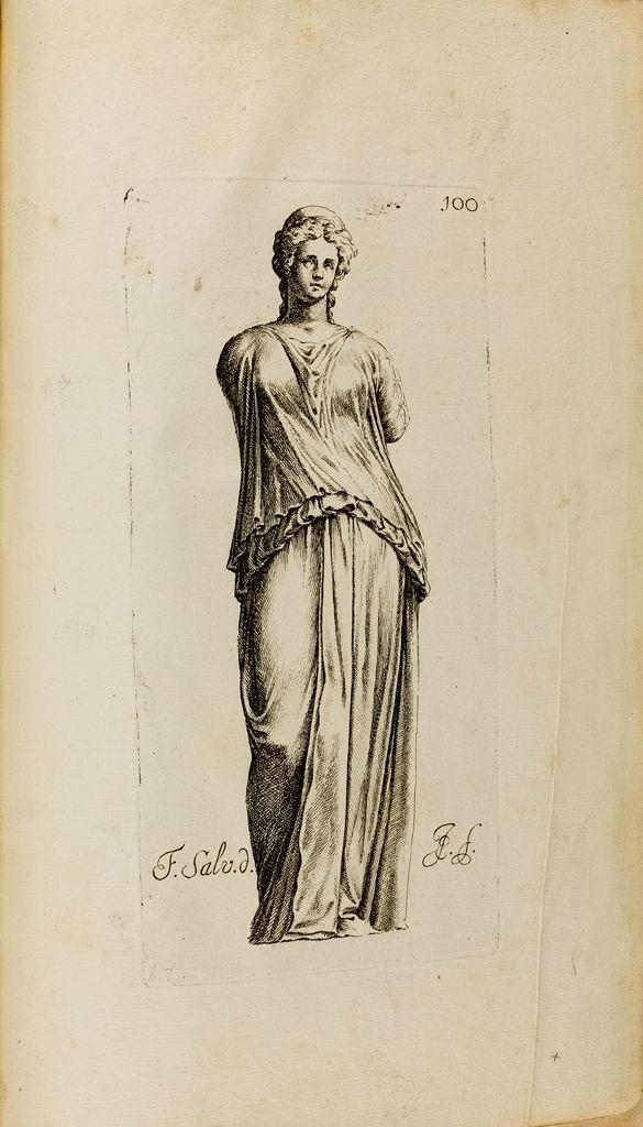 Plate 100: Draped Female Statue