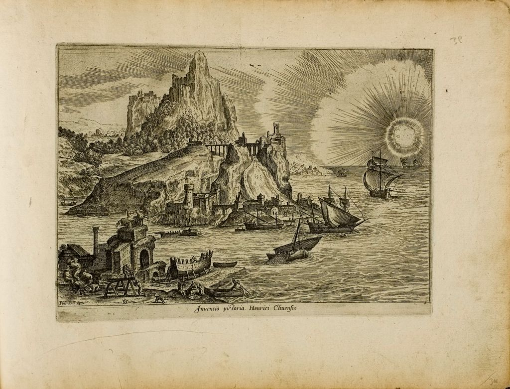An Imaginary View By Hendrick Van Cleve (Inventio Pictoria, Henrici Cliventis)