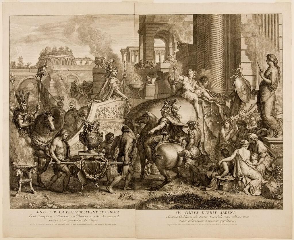 Triumphal Entry Of Alexander Into Babylon