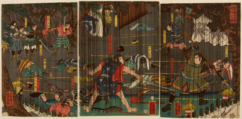 Triptych: Nocturnal Battle In Rain