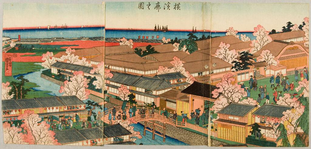 View Of The Pleasure Quarters Of Yokohama (Yokohama Kuruwa No Zu)