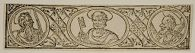 Decorative frieze with Saint Peter and flanking apostles