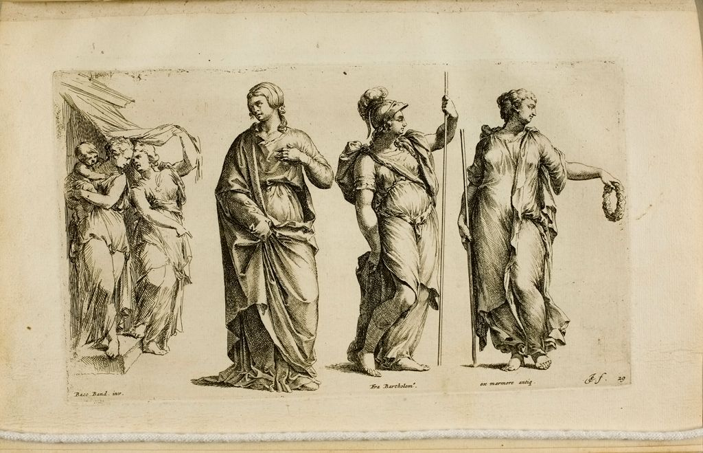 Plate 29: A Group Of Two Female Figures And A Child, And Three Separate Female Figures