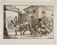 Man with a Horse and Work-Cart