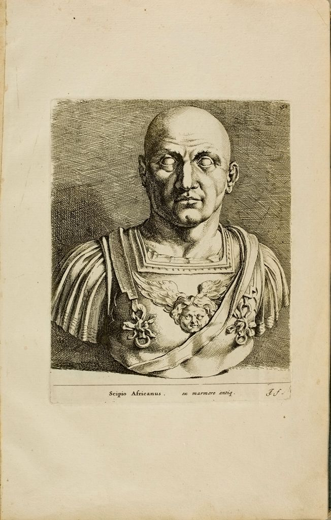 Plate 52: Head Of The So-Called Scipio Africanus Mounted On An Armored Bust