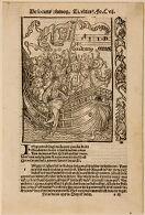 Illustration from Brant, Navis Stultifera.  Lamparter, 1506