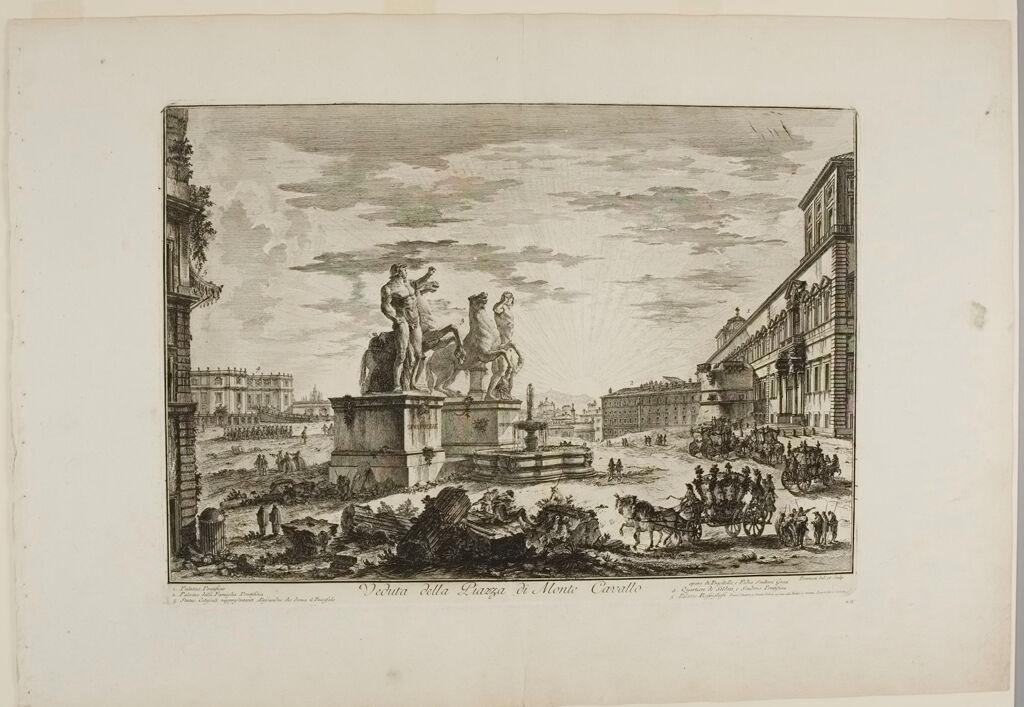 View Of The Piazza Di Monte Cavallo