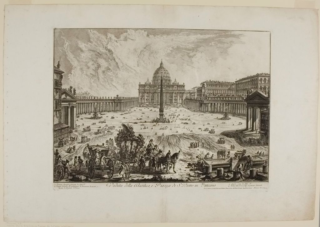 View Of The Basilica, And Saint Peter's Square At The Vatican