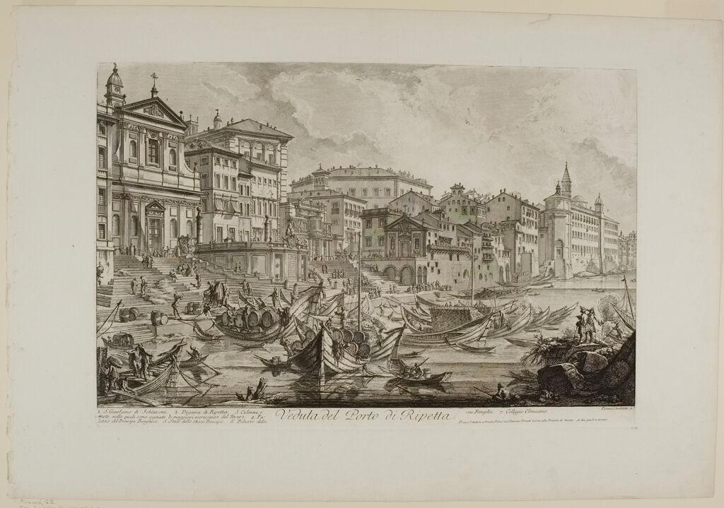 The Smaller Harbor, Called The Porto Di Ripetta
