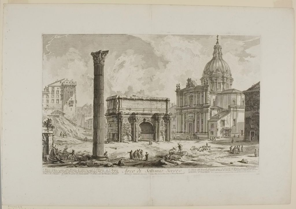 The Arch Of Septimius Severus, With The Church Of S. Martina On The Right